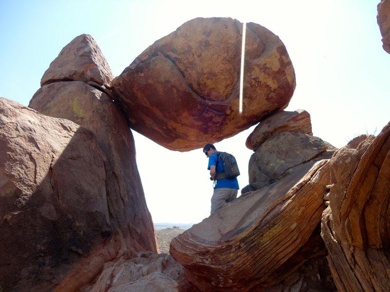 Big Bend balanced rock!