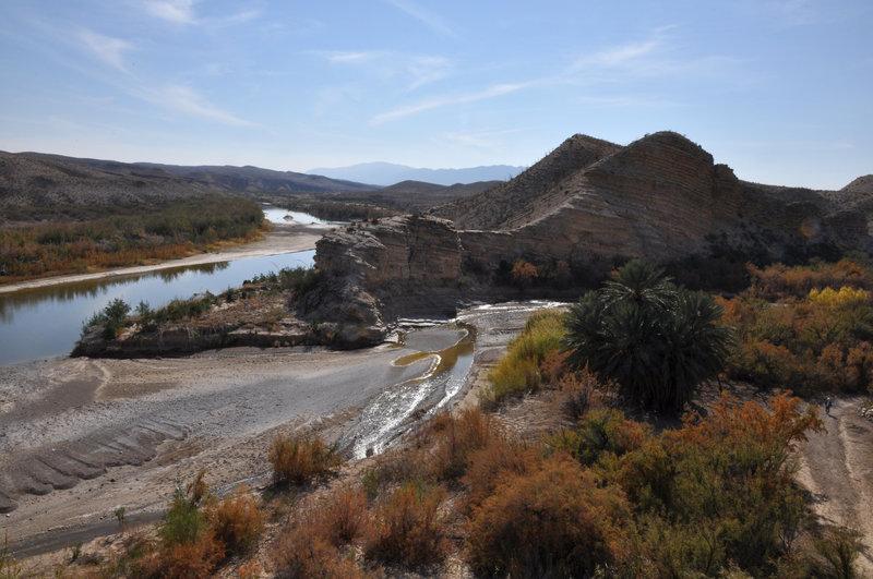 Tornillo Creek Meets the Rio Grande