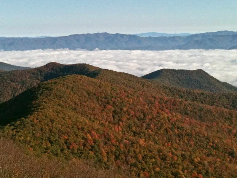 Early morning views from Brasstown Bald looking north