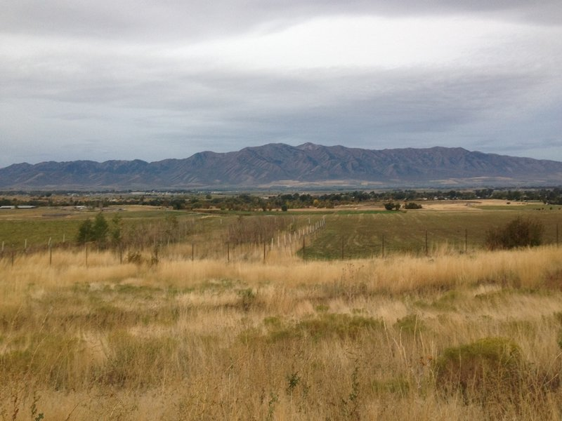 A view of the Wellsvilles standing over Cache Valley