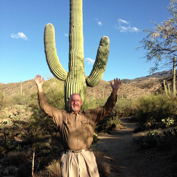 My impression of a giant saguaro.