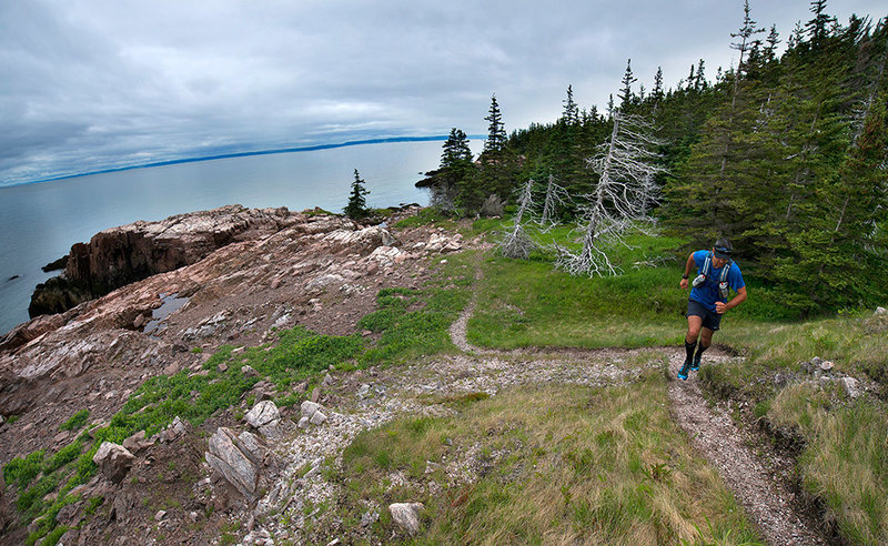 A stitched panoramic of Little Bald Rock that appeared in the July, Trail Runner Magazine #105 for the Favorite Trail feature.
