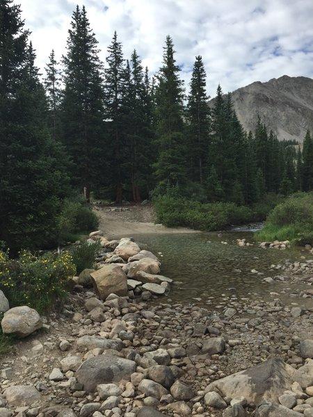The creek crossing.