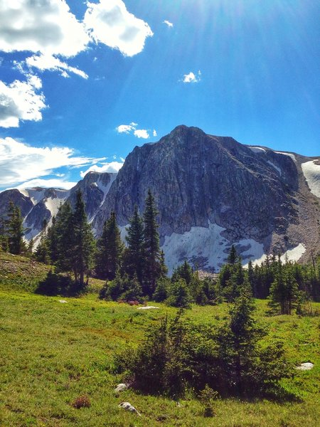 Look at Medicine Peak on the return trail toward Lake Marie. This trail is near and dear in my heart and gets travelled often.