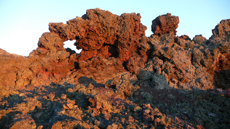 Cool lava formations along Black Crater Trail.