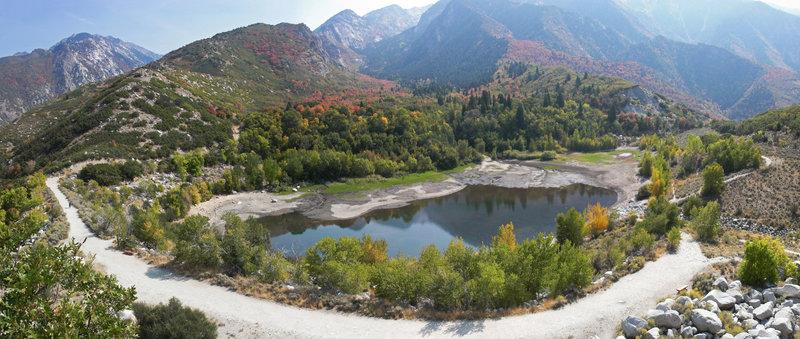 Lower Bell Canyon Reservoir.