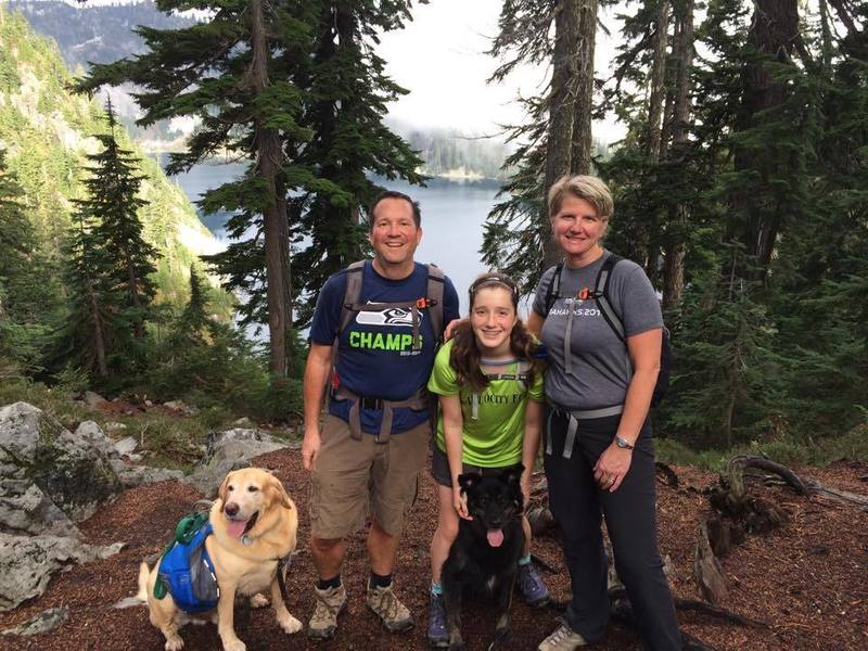 Our family heads for a hike to Snow Lake.