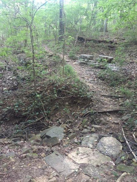 Dry creek bed crossing.