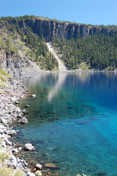 Gorgeous blue Crater Lake.