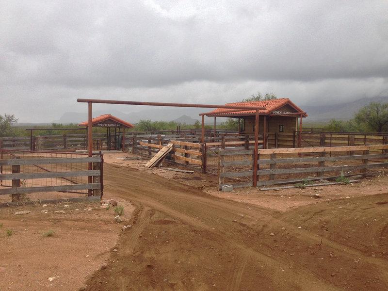 The Bowen Ranch cattle pens.