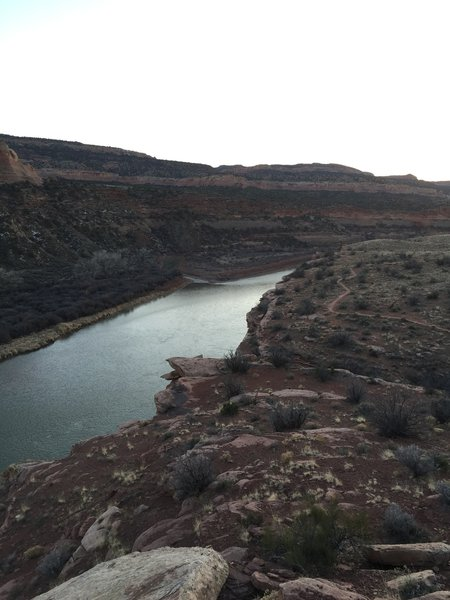 Looking downstream at the Colorado River.