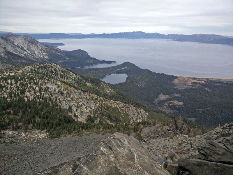 View from the summit of Mt. Tallac