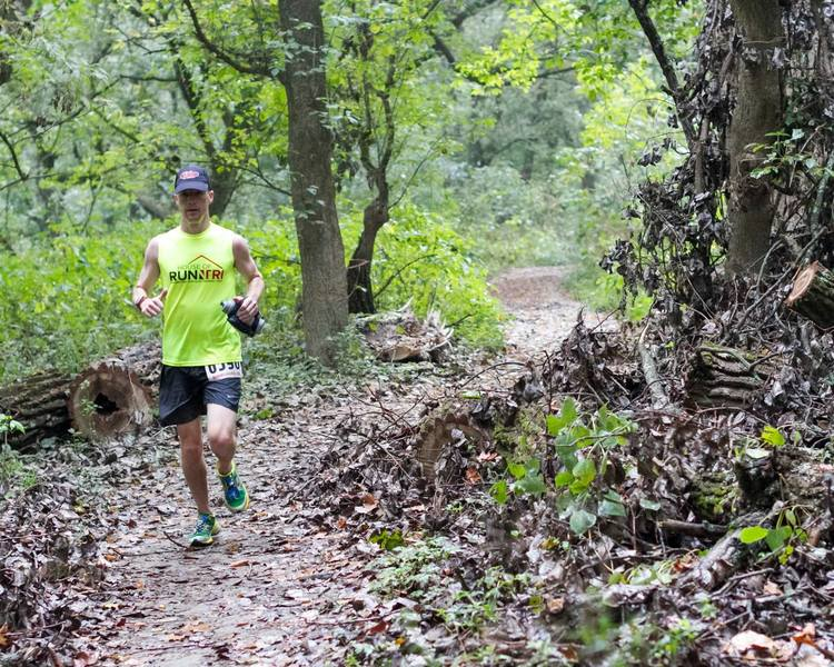 A flat stretch during the 2015 Germantown 50K.