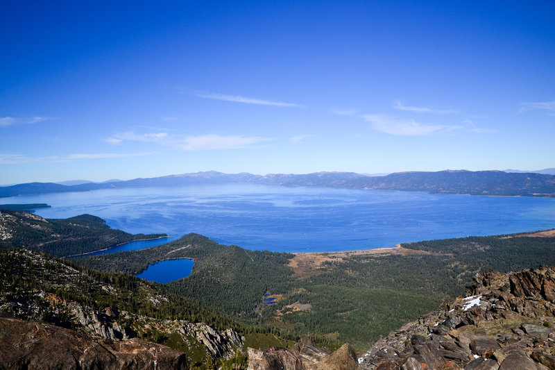 Stunning views from Mt. Tallac.