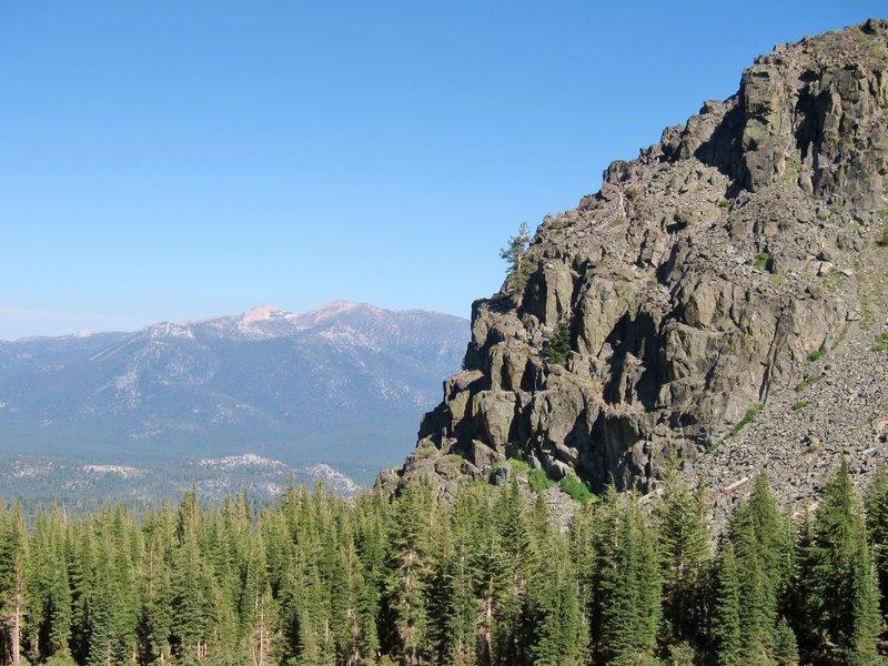 Cliffs from Mt Tallac Trail.
