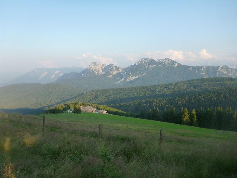 View from Teisenberg mountain (20 miles) to Kohler Alm (35 miles)