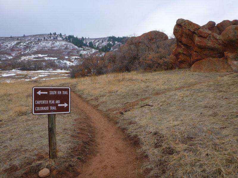 The start of the Carpenter Peak Trail.