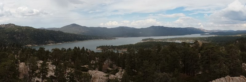 Stunning view of Big Bear Lake from on top of Castle Rock.