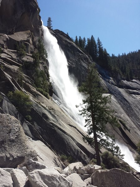 Nevada Falls! You can hear the thundering power from here.