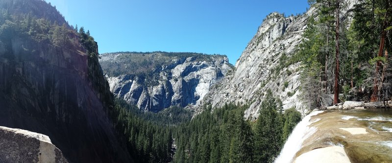Vernals Falls and the valley