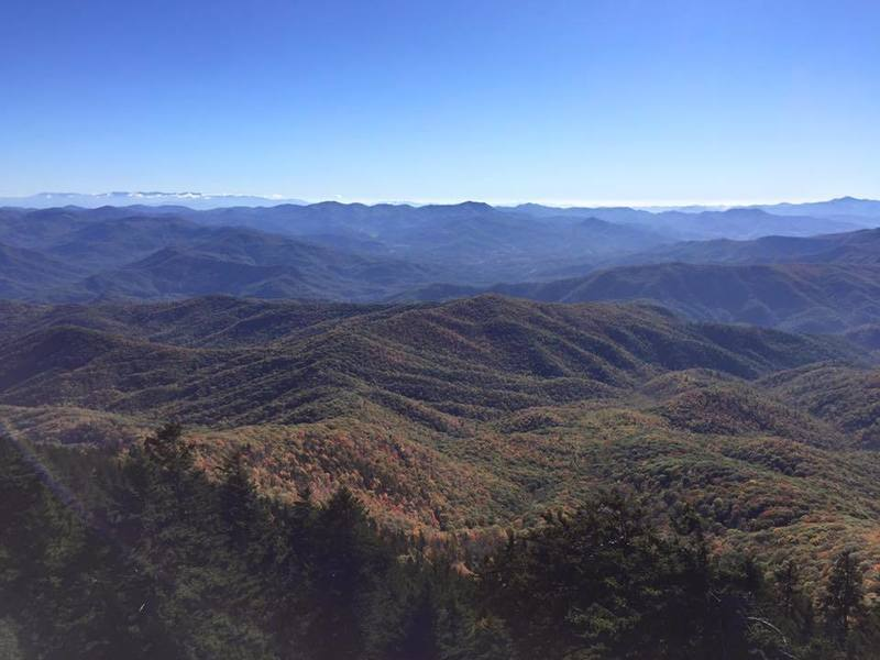 The awesome panoramic view atop the Mt. Sterling fire tower.