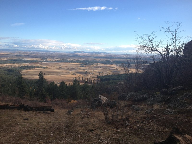 Beautiful view of the Palouse Valley from the Rocks Of Sharon Viewpoint!