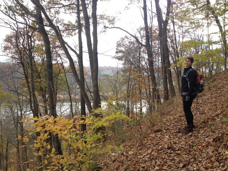 Overlooking the Ohio River during the first climb of the Scenic River Trail.