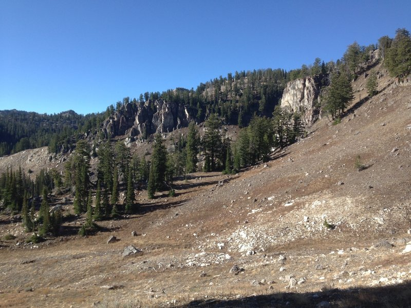 The basin at the head of White Pine Canyon