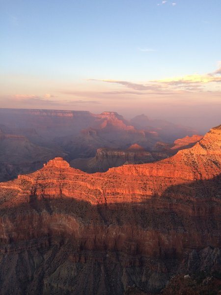 Sunset at the South Rim, taken from the Rim Trail.