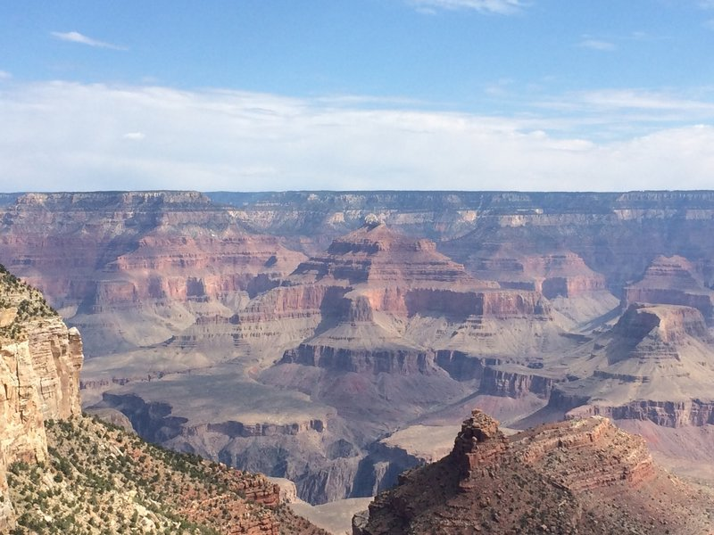Viewpoint along the South Rim Trail.
