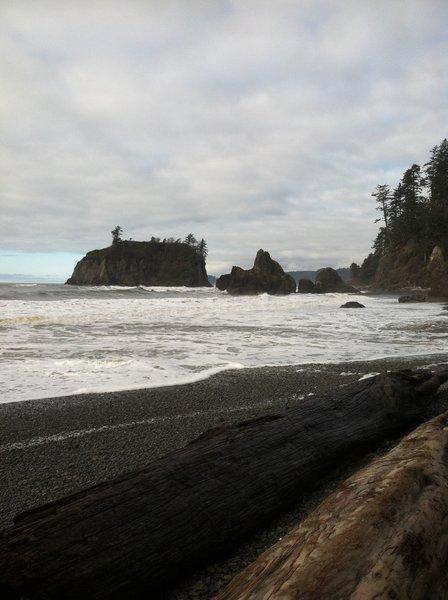 Sea stacks at Ruby Beach.
