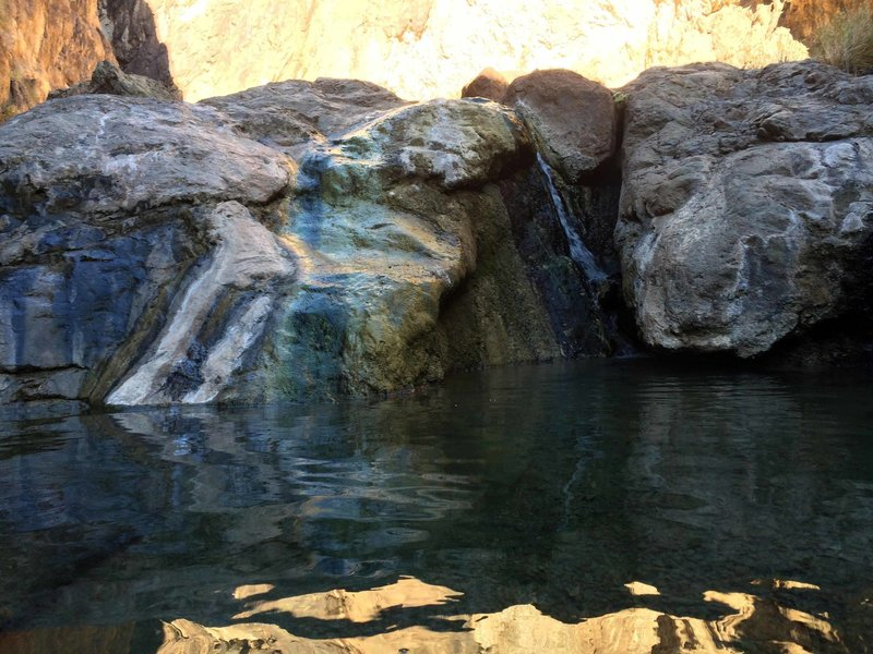 The Grotto pool, one of the sought after gems in Gold Strike Canyon. 104