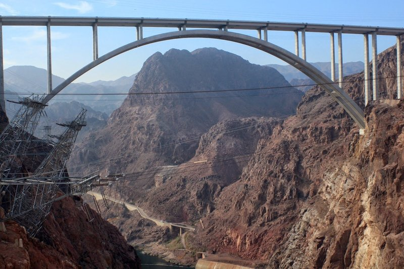 Looking at the bridge from the Hoover Dam visitor center.