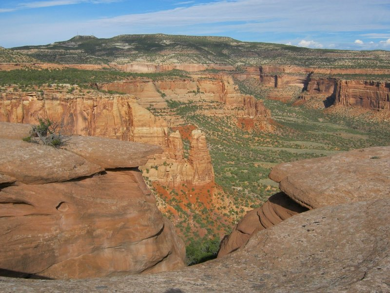 Without spoiling the surprise of the Bathtub, here is the view into Monument Canyon from the location.  Just make your way, carefully to the edge to see a piece of history.