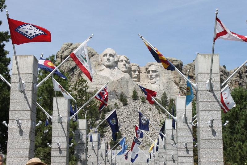 The walk to Mount Rushmore.
