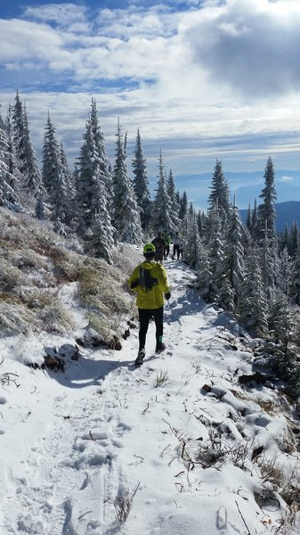 A snowy Sunday jaunt on the Highpoint trail.
