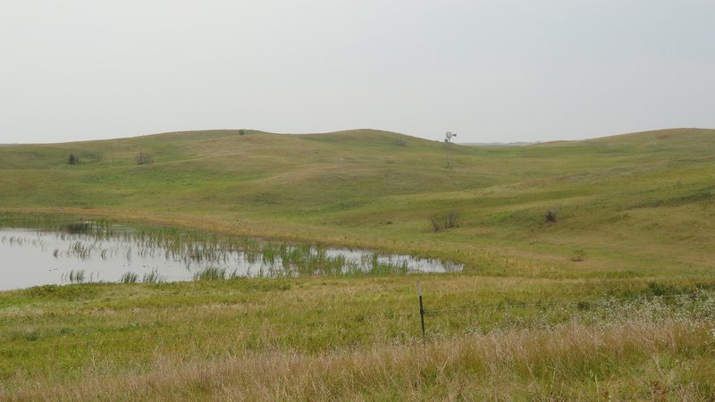 The rolling hills of the Missouri Coteau.