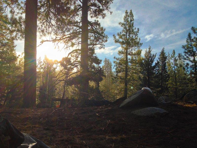 Sunrise at Elephant Rock Lake.