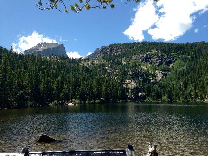 Hallett Peak as seen from Bear Lake.