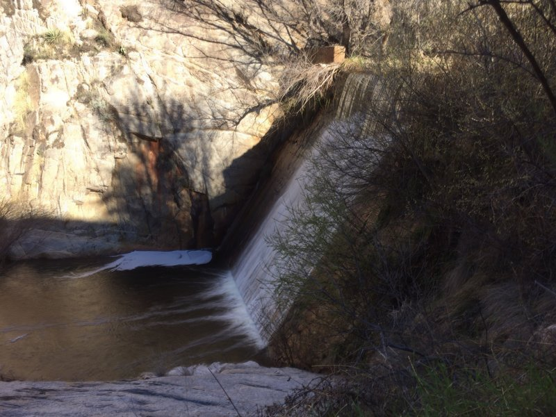 Water flowing at Sycamore Reservoir.