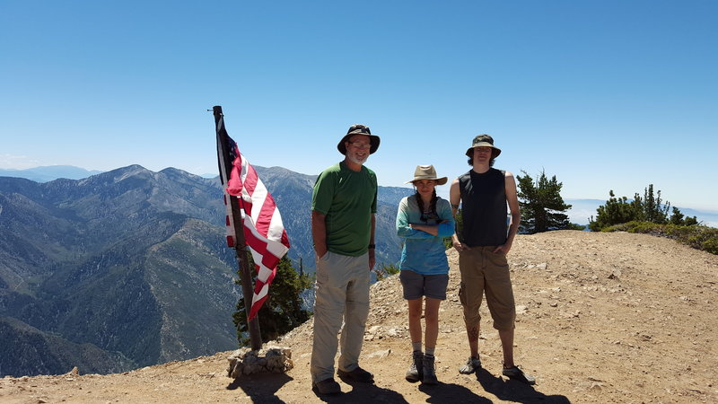 A few of us on Baden-Powell summit.