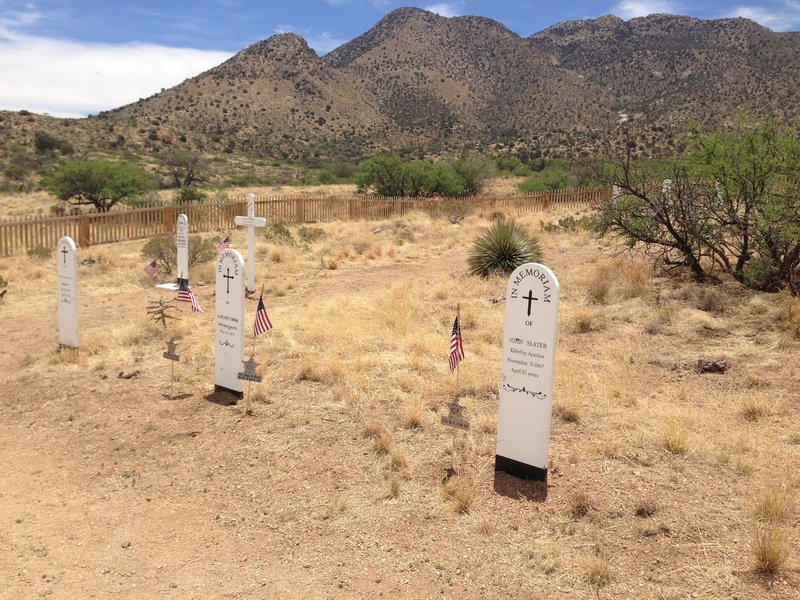Cemetery along the trail into Fort Bowie.