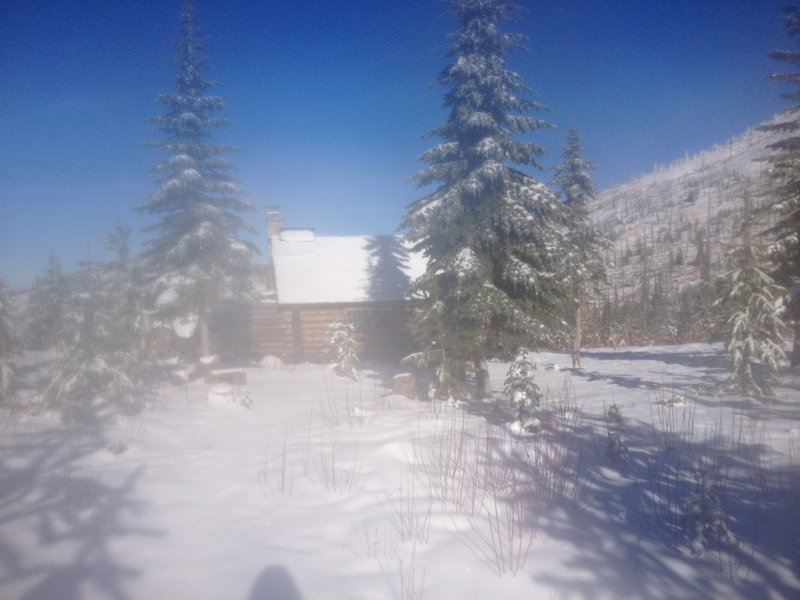 Snow Creek Cabin, sorry for the foggy lens...