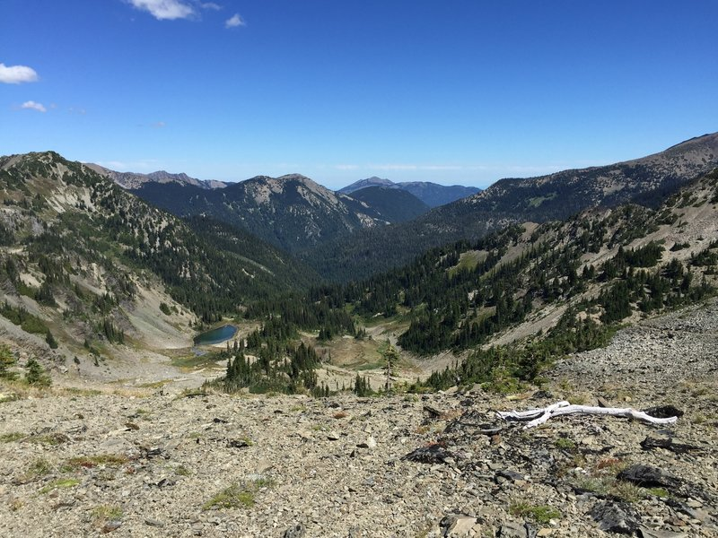 Looking north from the top of Gray Wolf Pass