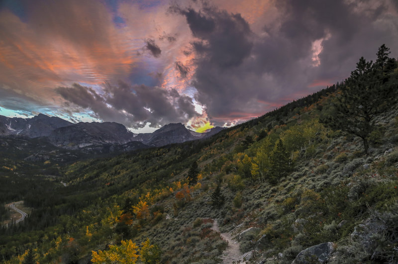 Evening Fall Colors in Rocky Mountain National Park.