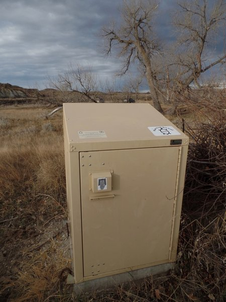 Third Creek water cache box allows recreationists to cache water along the trail.