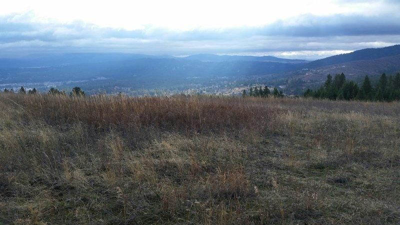 Fall skies and Iller Creek area in the distance