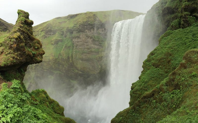 Skogafoss Waterfall from the Laugavegur Route.