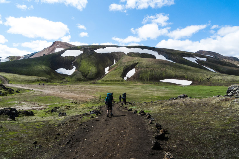 Making the way along the Laugavegur Route.