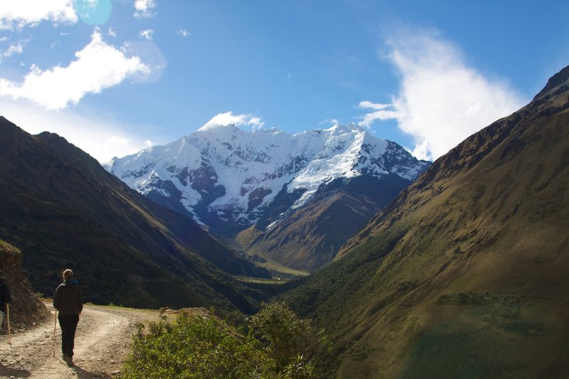 Peru - Salkantay Trek 006 - approaching Nevado Tucarhuay